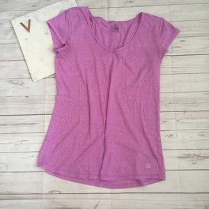 vsx sport womens s purple polka dot t-shirt victor